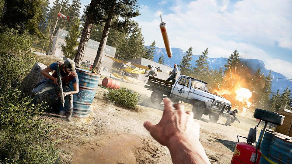 Far Cry 5 повысить fps, снизить разрешение, убрать лаги