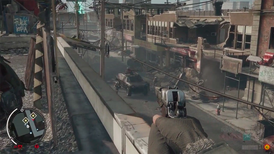 Демонстрация оружия в ролике по Homefront: The Revolution