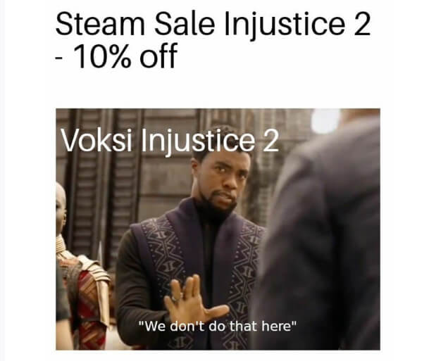 Steam Sale Injustice 2 - 10% off