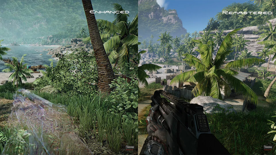 Crysis Remastered vs Crysis Enhanced Edition mod