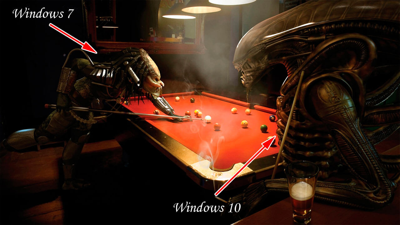 Protivostojanie Windows 7 i Windows 10