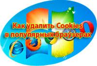 Как удалить cookies браузера