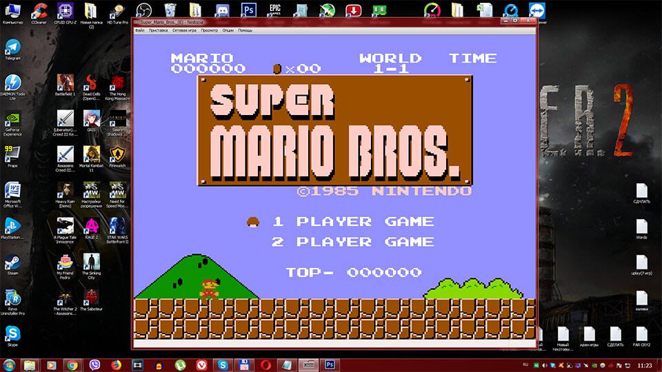 Super Mario skachat' na PK igrat' na dzhojstike