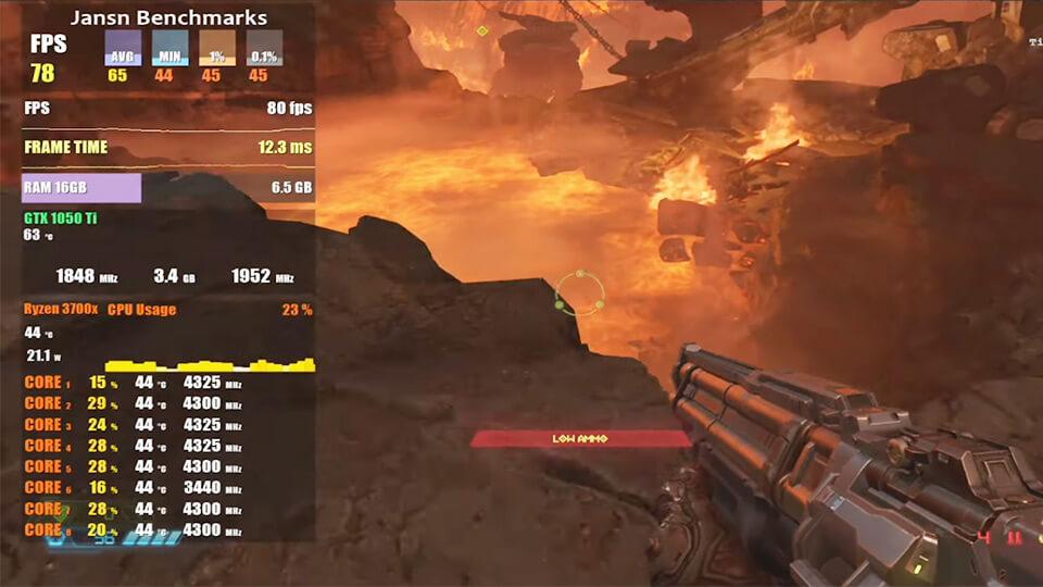 Doom Eternal na slabom pk