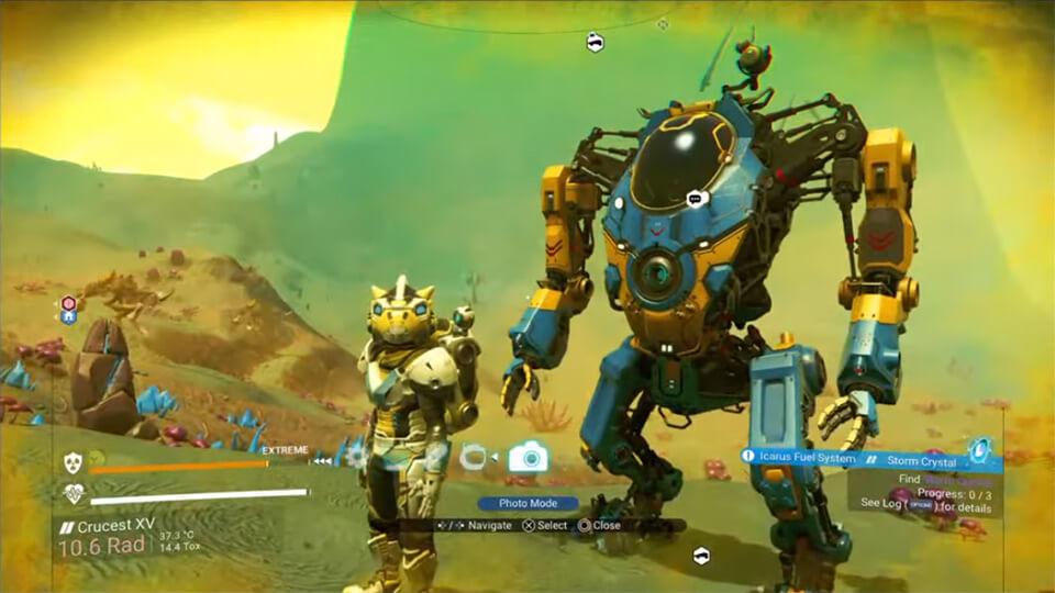 V No Man's Sky s obnovleniem 2.40 pojavilis' roboty