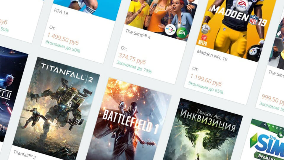 Skidki v Origin do 80 % - na Battlefield 5, FIFA 19, Need for Speed Payback
