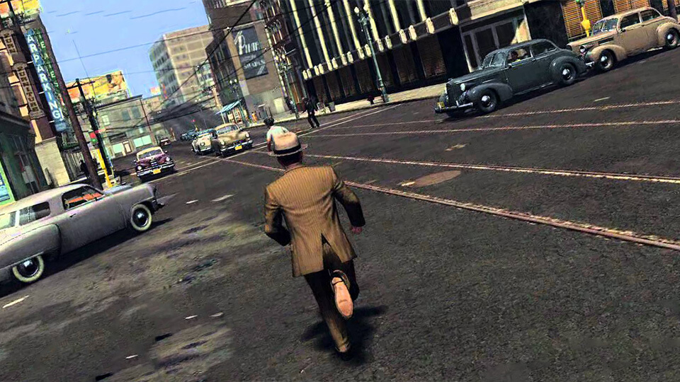 Test L.A. Noire zapusk na slabom PK