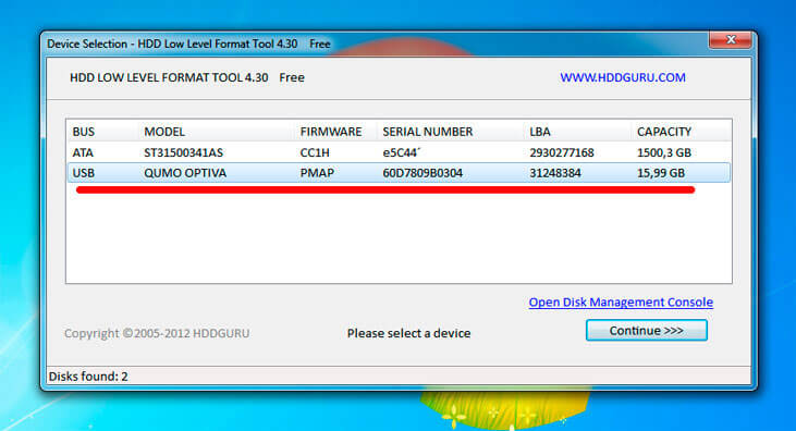 kak rabotat s hdd low level format tool