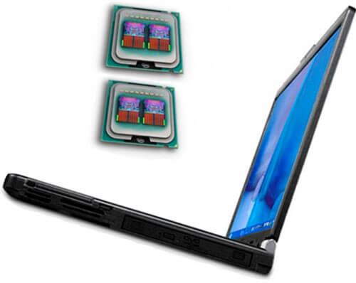 Zamena s 2-h na 4-h jadernyj processor